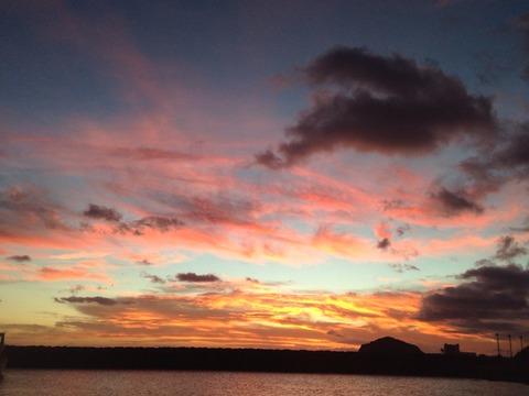 ハワイ 夕日