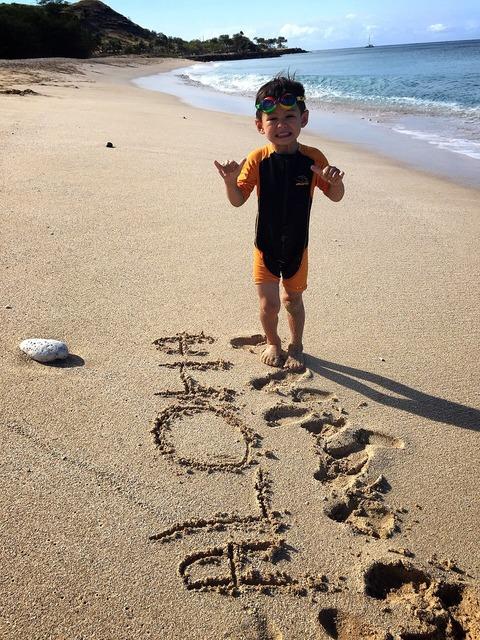 ハワイ 子供 ビーチ